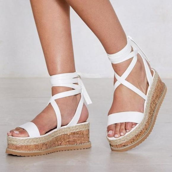 Nasty Gal Shoes   Nwot White Lace Up